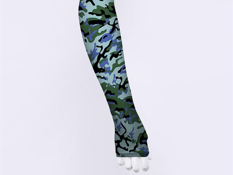 Wholesale UV Protect Ice Cuff Custom Compression Arm Sleeve Camo Cycling Sun Protection Sleeve