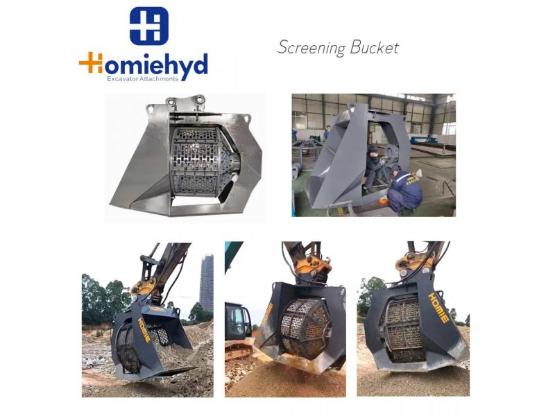 20T Grade Excavator Soil Screening Bucket