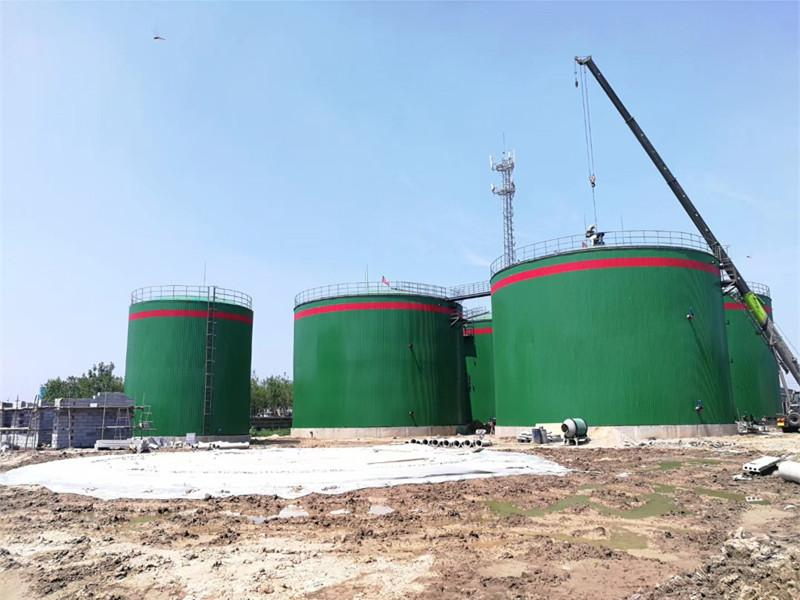 Large-Scale Biogas Plant for Sugarcane Bagasse Treatment