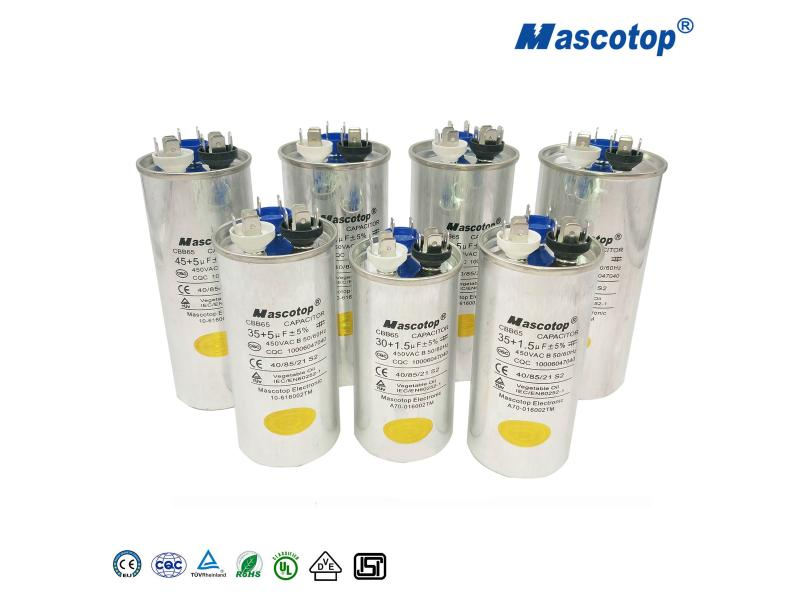 CBB65 Air Conditioner Capacitor Dual Type with High Quality