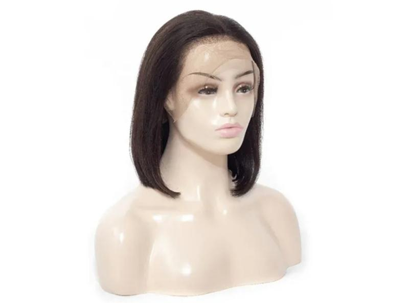 Straight Bob Wigs Brazilian Remy Human Hair Natural Color Lace Frontal Wigs for Women