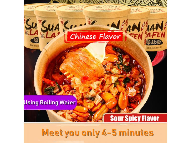 Pinzheng Wholesale Instant Sweet Potato Noodles Haichijia Hot and Sour Vermicelli Suan La Fen Instan
