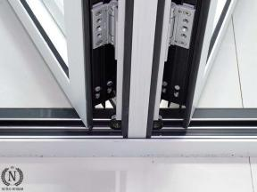 Foshan Factory Thermal Break PVDF Aluminum Folding Door for Home Replacement