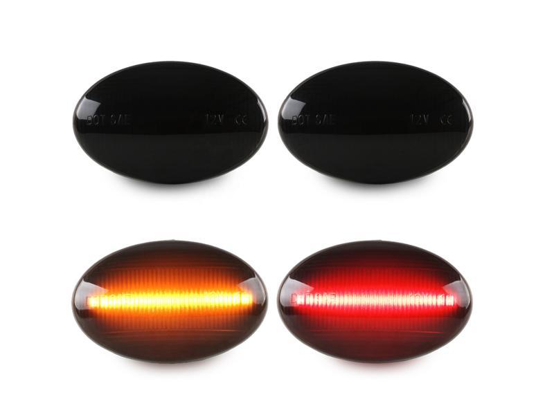 4pcs Red+Amber LED Front/Rear Dual Fender Light Brake Blinker for Ford F350 F450 F550 Super Duty 199
