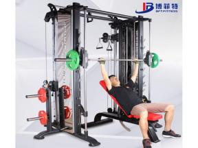 Gym Equipment Fitness Smith Machine and Cable Crossover Multi Function Multi Workout Station