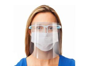 Safety Face Shield Reusable Goggle Shield Wearing Glasses Face Visor Transparent Anti-Fog Layer Prot