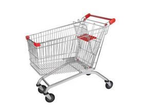 210L European Modern Escalator Metal Supermarket Carts