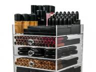 Acrylic Makeup Organizer Cube | 5 Drawers Storage Box for Vanity Tables