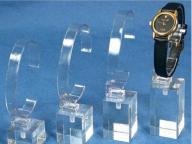 4 Watch Stands Acrylic Showcase Riser Jewelry Display