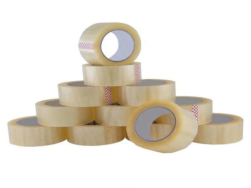 Acrylic Adhesive Packaging Tape BOPP Packaging Tape with Yellow Buff Clear Transparent Color