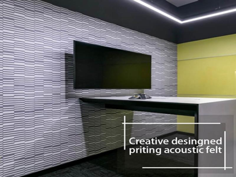 Creative Designed Priting Acoustic Felt