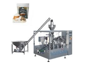 Automatic Stand Up Pouch Ground Cocoa Matcha Milk Tea Coffee Powder Packing Machine