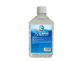 500ml Square Bottle 75% Alcohol for Medical Use
