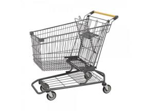 100L Trade Assurance American Type Metal Supermarket Shopping Cart