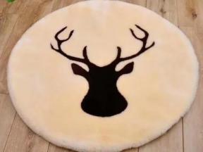 Faux Rabbit Fur Rug Floor Shaggy Area Rugs for Livingroom Bedroom Decorative