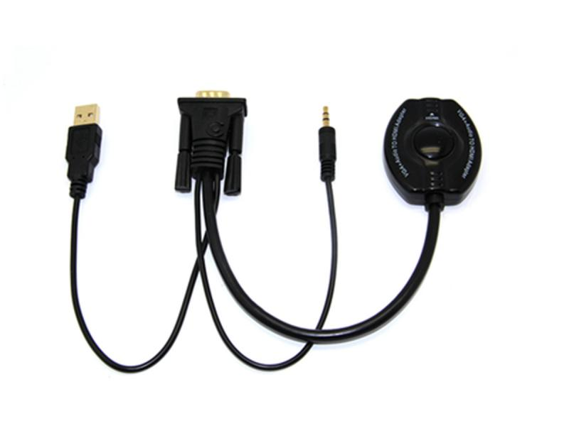 Support 1080p HD Resolution Male To Female Converter VGA 3.5audio To HD Adapter Cable