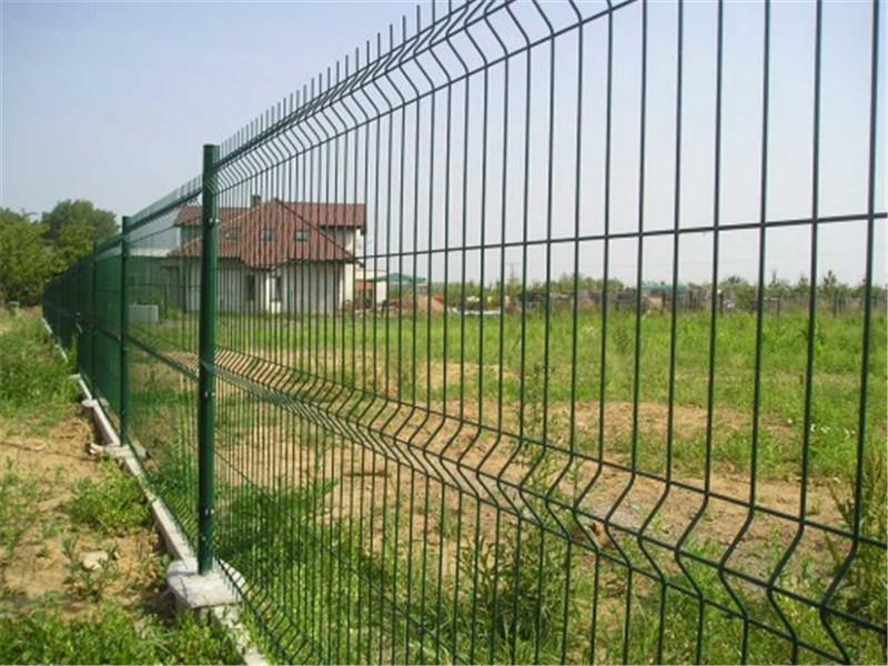 Powder Coated Security Fence 3D Panel Welded Wire Mesh Fence
