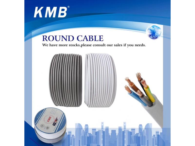 KMB Round Flexible Electrical Cables for House Wiring with CE Certificate