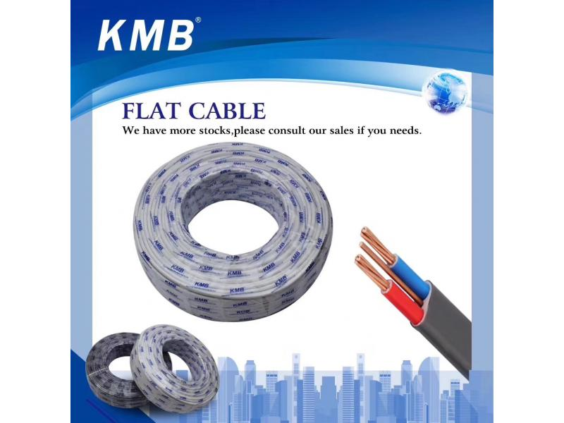 KMB Twin Flat Electrical Cables for House Wiring with CE Certificate