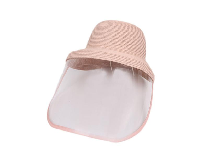 New Beach Summer Ladies Straw Hat Safety Customized Logo Face Protective Hats