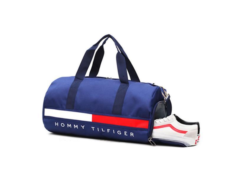 Bright Color Polyester Canvas Shoulder Handbag Travel Duffle Bag