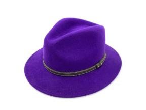 Wholesale Women Fedora Hat Belt Decoration 100% Wool Felt Europe Hat for Women Plain Gift