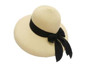 Women Broad Brim Beach Hat Bowknot Summer Sun Hat Straw Hat