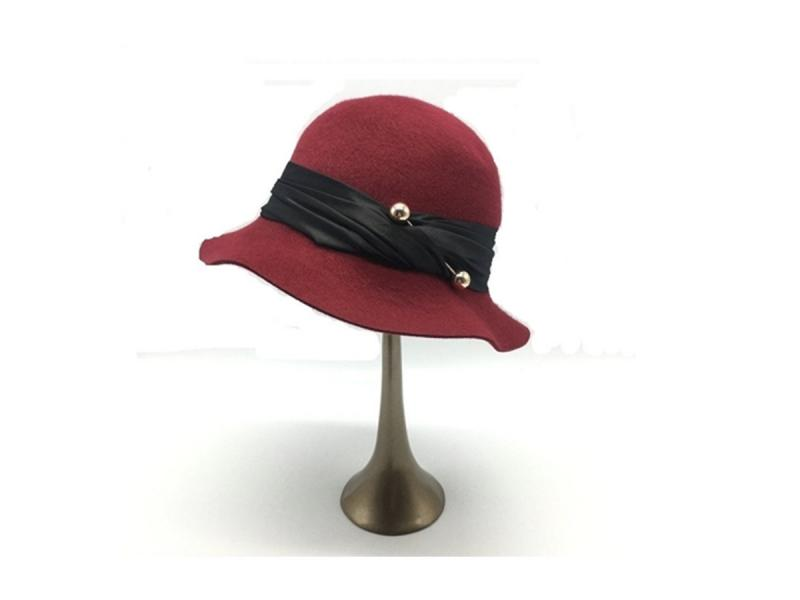 2018 Fashion Ladies Wool Felt Bucket Hat Wedding and Church Hats