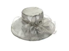 New European and American Flowers Mesh Visor Beach Sun Hat Female Organza Hats