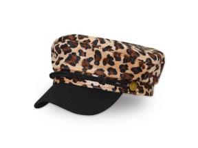 Fashion Leisure Leopard Print Octagonal Gorra Curved Brim Navy Cap Berets Hat