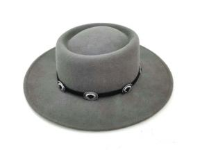 Custom Fashion Colorful Rivet Belt Wide Brim 100% Wool Felt Women Fedora Hats