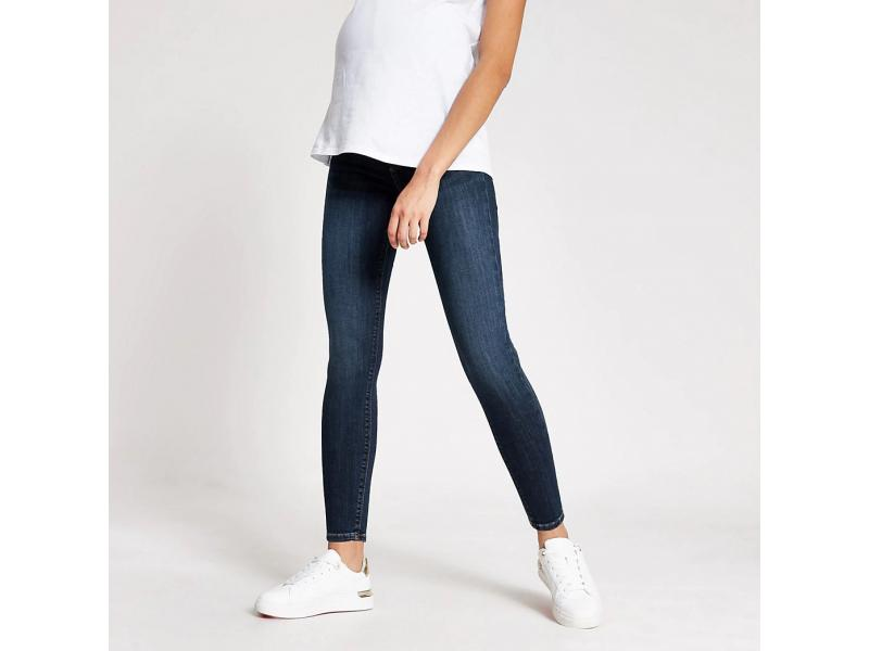 Dark Blue Amelie Overbump Maternity Jeans