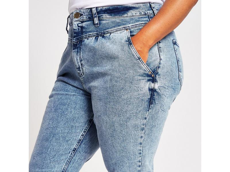 Plus Light Denim Carrie High Rise Jeans