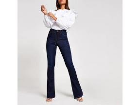 Dark Blue High Rise Bootcut Jeans