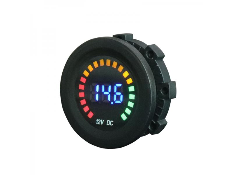 Measure Voltage 5-36V Colorful LED Car Motorcycle Digital Voltmeter DC Meter