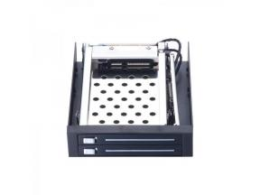 Unestech ST2522 2x2.5in SATA Hot-swap Enclosure To 3.5in Floppy Drive Tray-less SSD HDD Mobile RACK